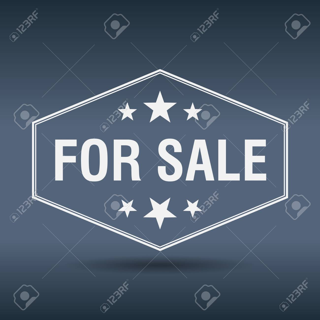 for sale hexagonal white vintage retro style label - 39394741