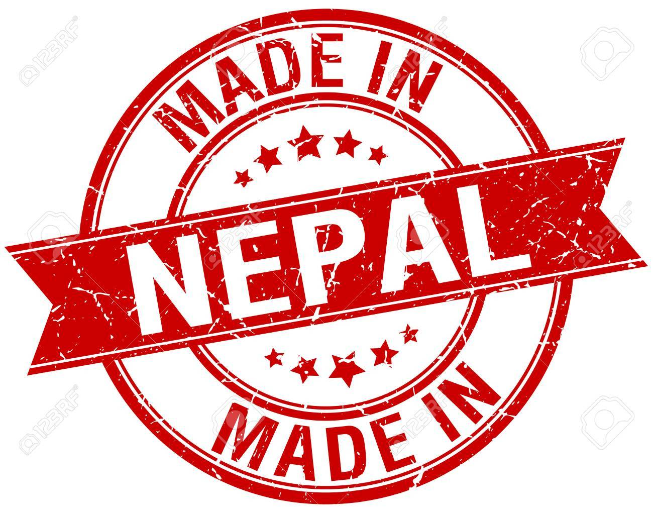 Made In Nepal Red Round Vintage Stamp Royalty Free Cliparts ...