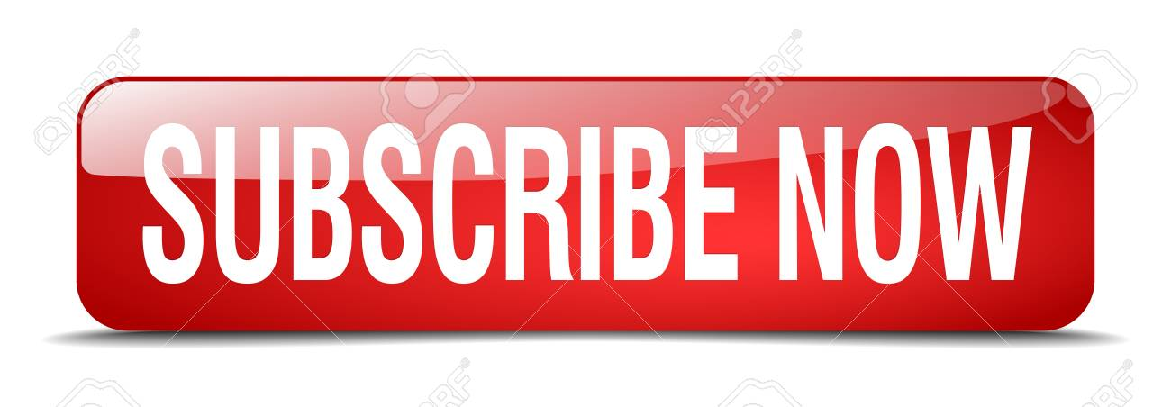 subscribe now red square 3d realistic isolated web button - 41764249
