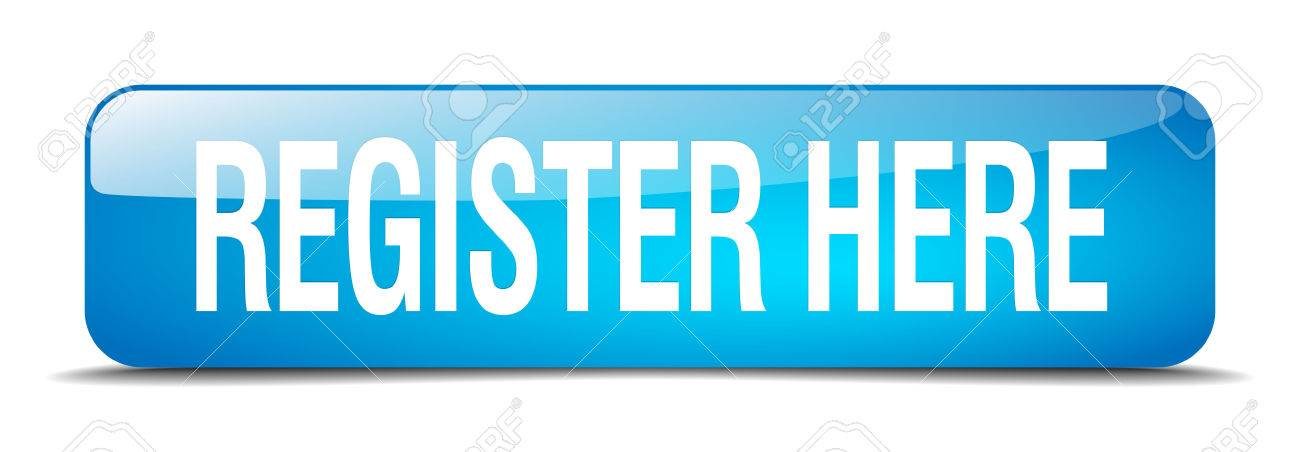 register here blue square 3d realistic isolated web button - 41819878