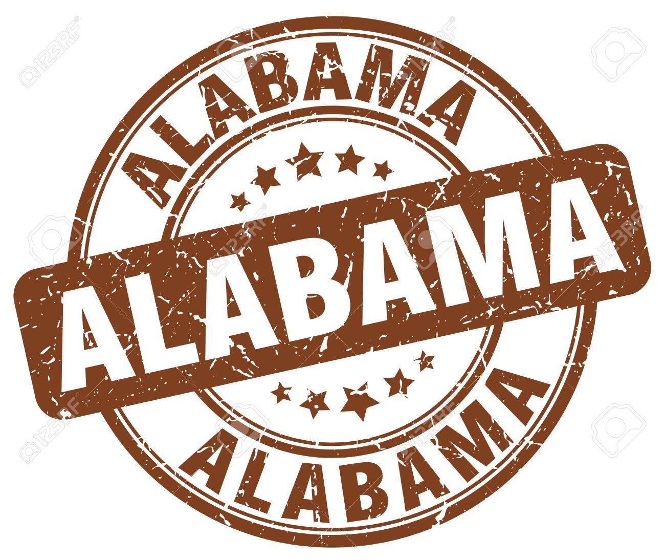 Alabama Brown Grunge Round Vintage Rubber Stamp.Alabama Stamp ...