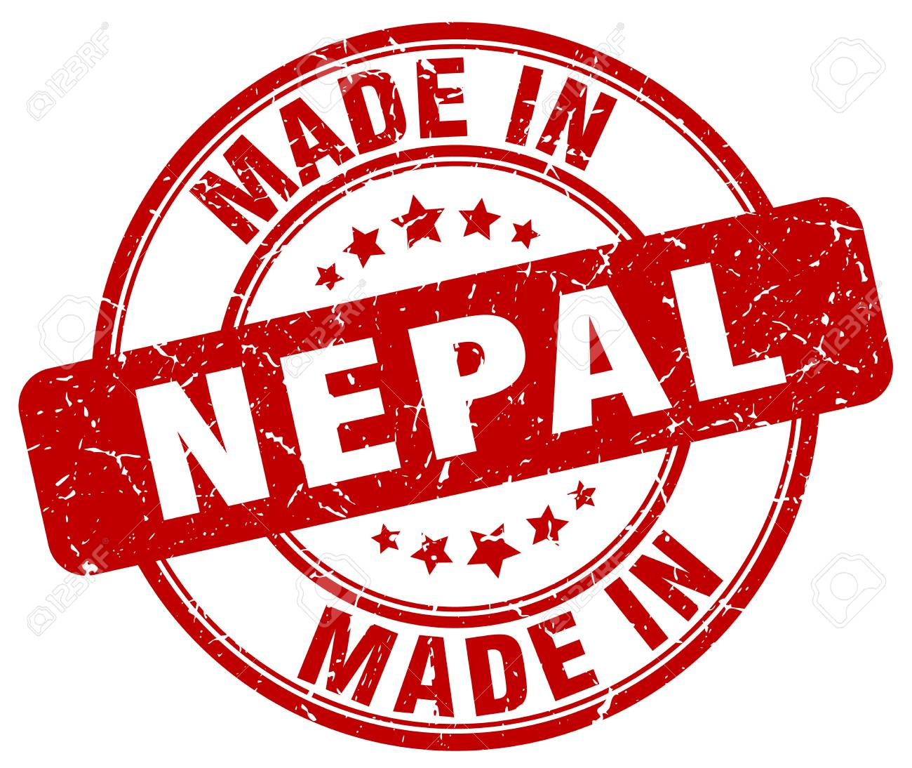 Made In Nepal Red Grunge Round Stamp Royalty Free Cliparts ...