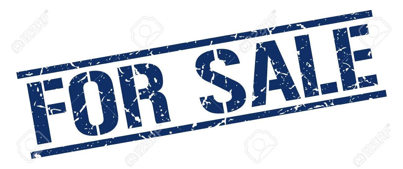 for sale blue grunge square vintage rubber stamp - 58064219
