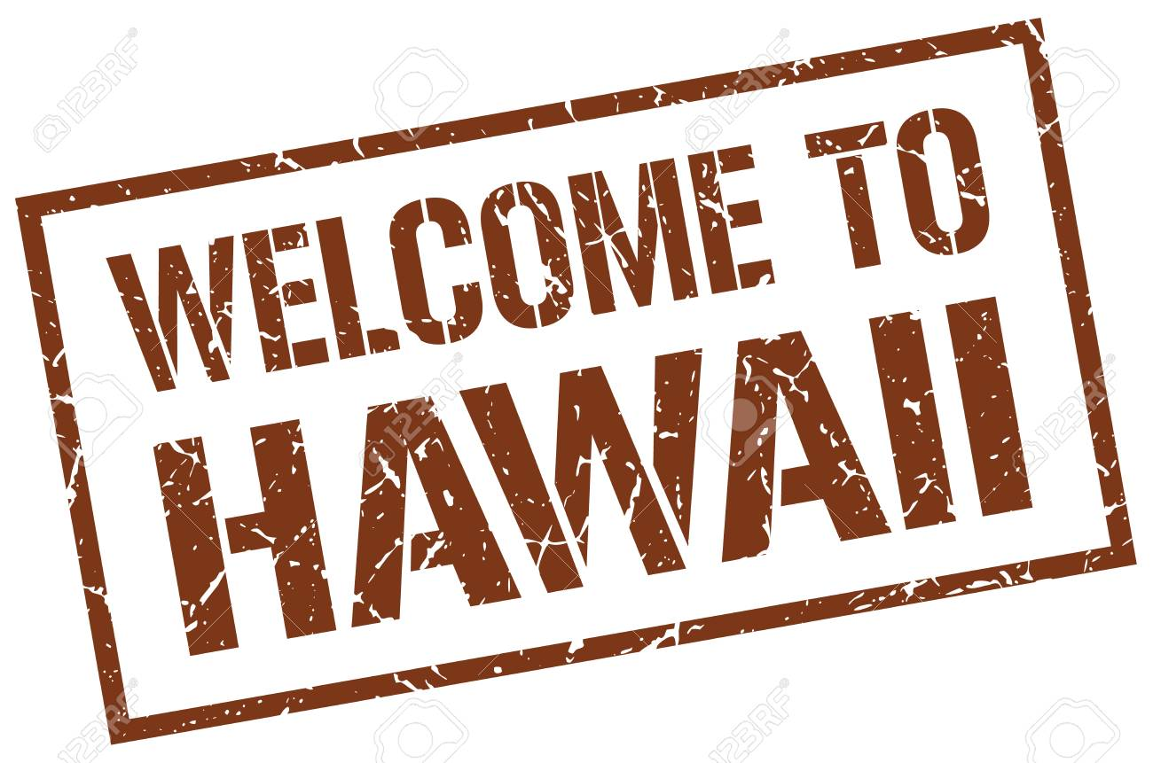 Welcome To Hawaii Stamp Royalty Free Cliparts Vectors And Stock