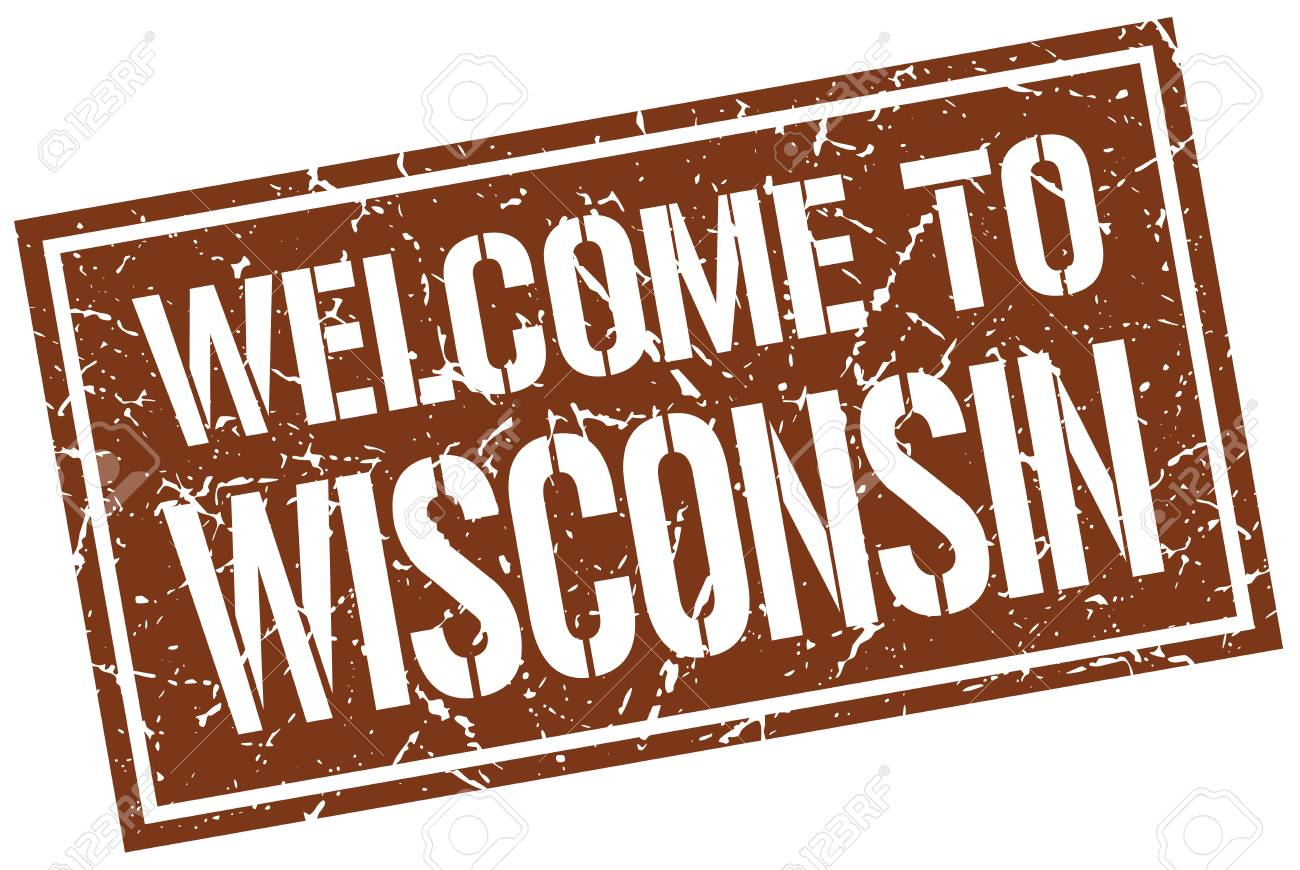 Welcome To Wisconsin Stamp Royalty Free Cliparts Vectors And Stock