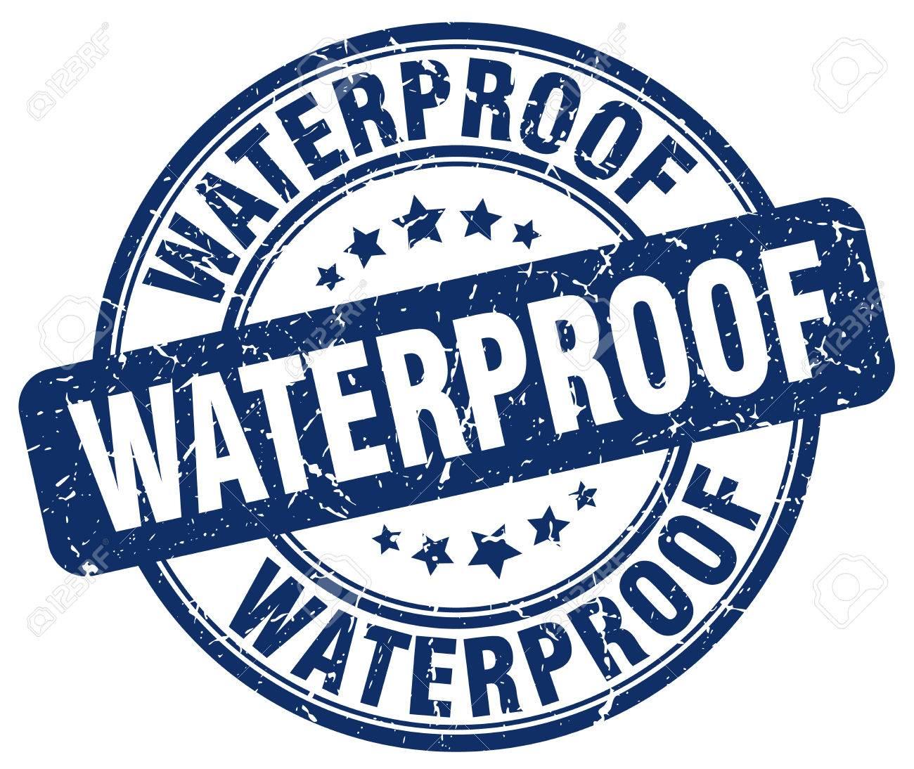 waterproof blue grunge stamp - 66594276