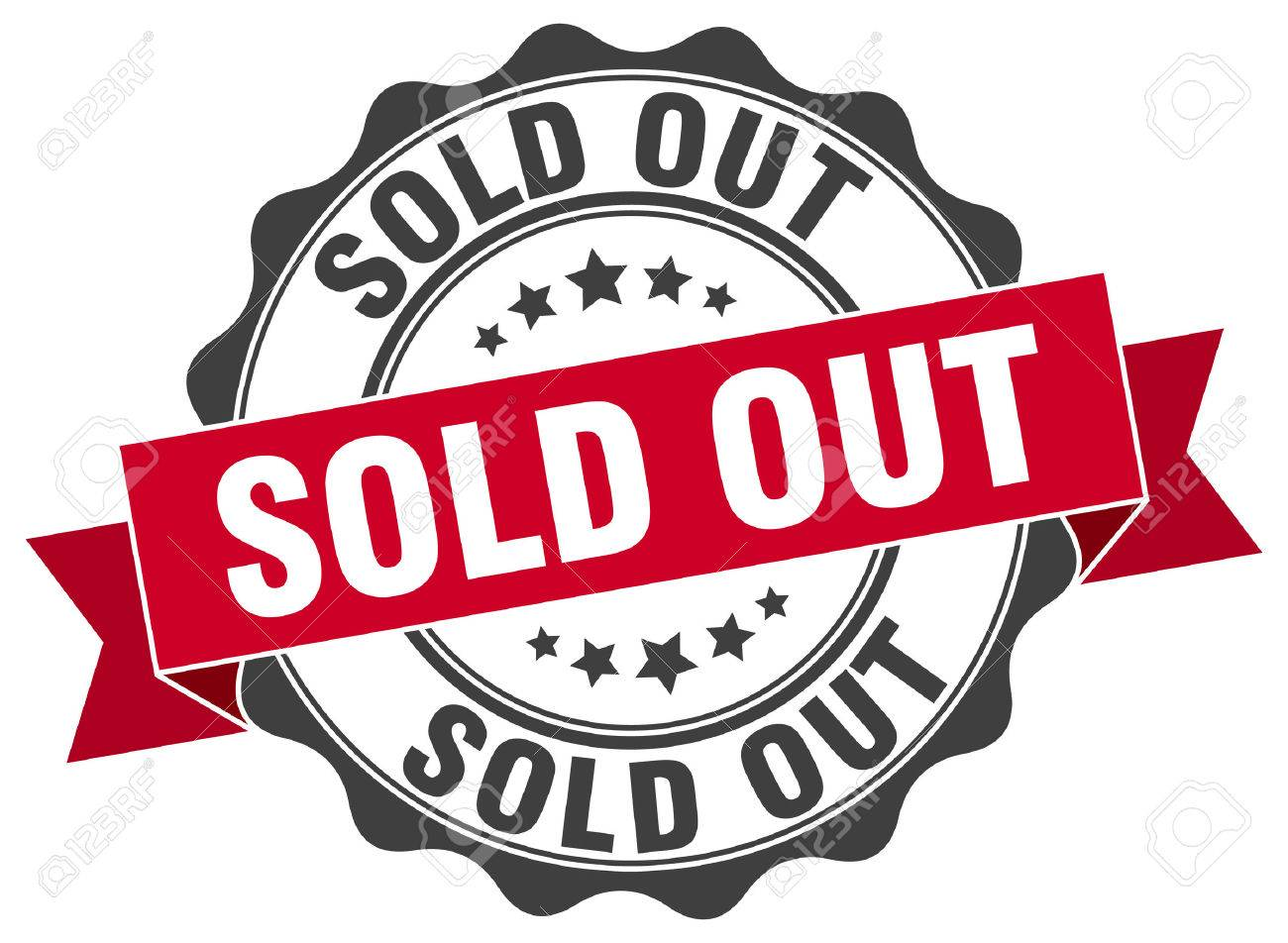 sold out stamp. sign. seal - 67695190