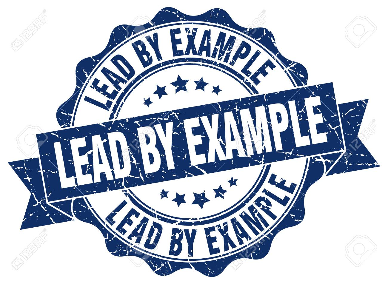 lead by example stamp. sign. seal - 68662677