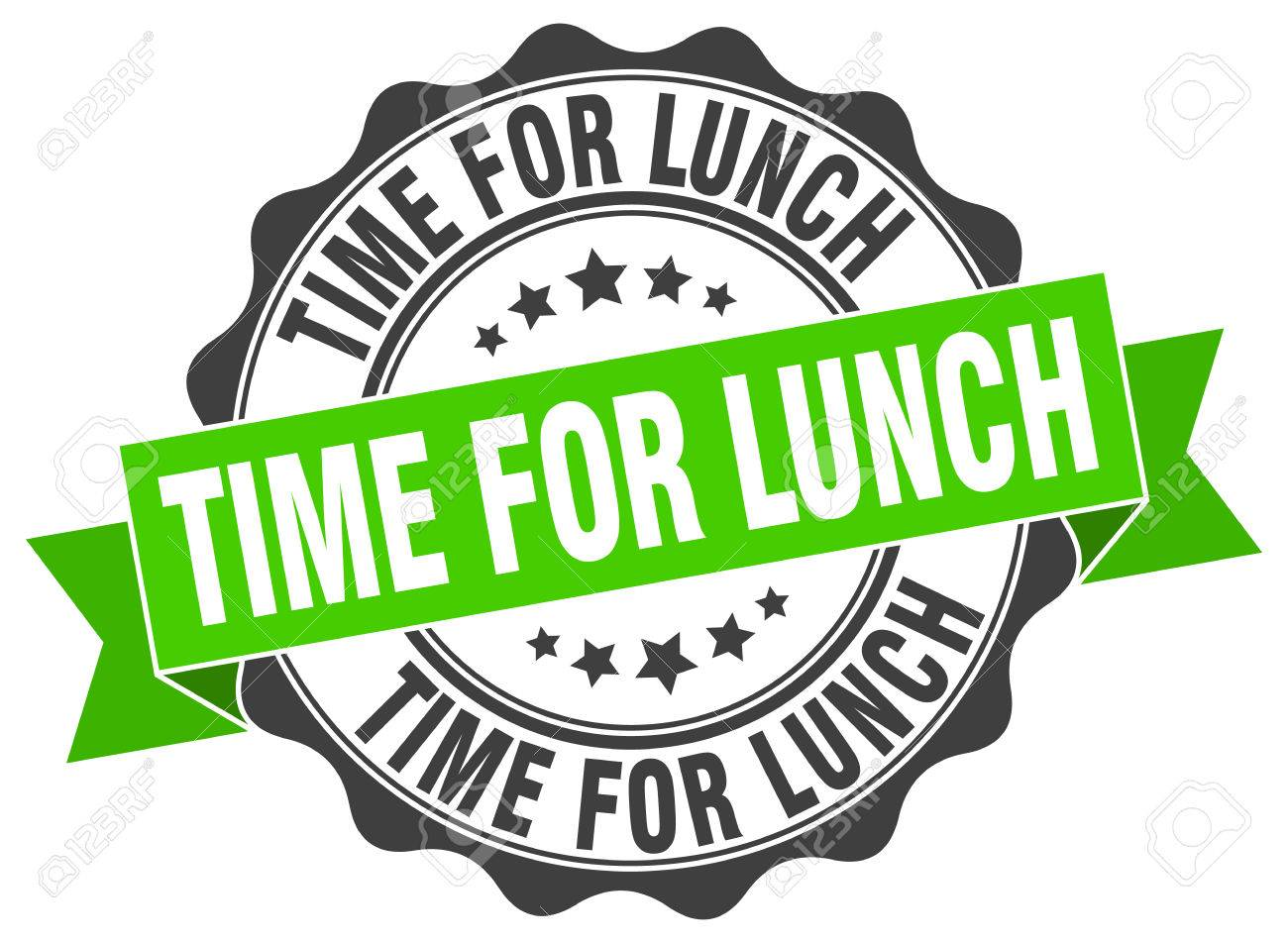 Time For Lunch Stamp Sign Seal Stock Vector