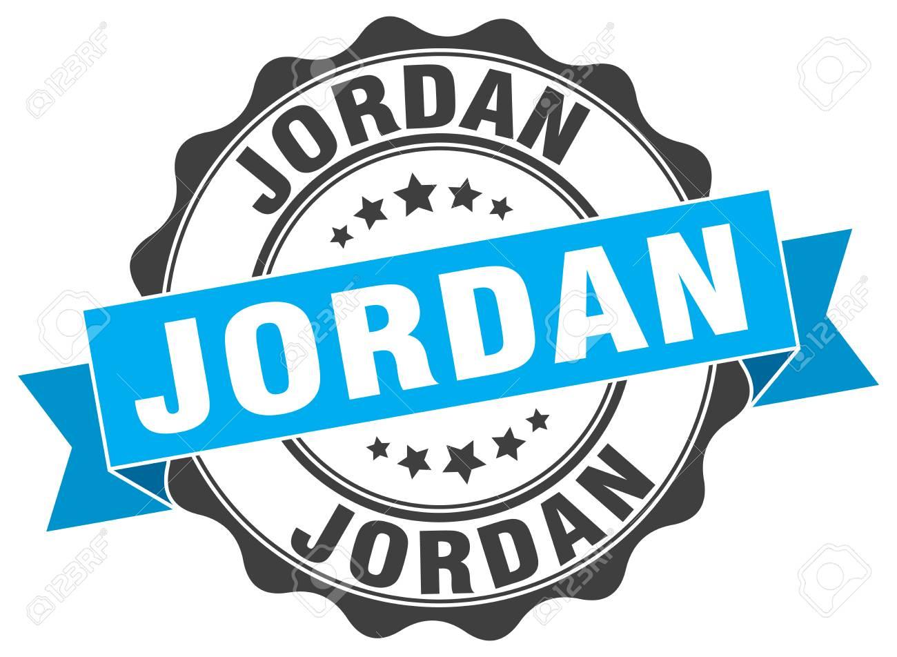 Jordan Round Ribbon Seal Royalty Free Cliparts Vectors And Stock