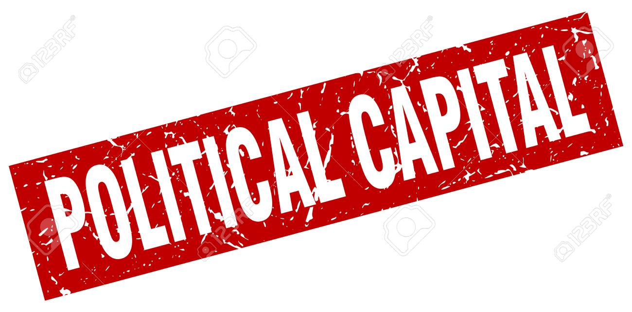 Square Grunge Red Political Capital Stamp Stock Vector