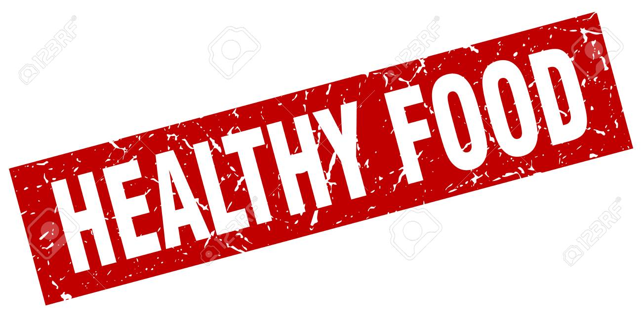 16158ef90b4e9 Square Grunge Red Healthy Food Stamp Royalty Free Cliparts, Vectors ...