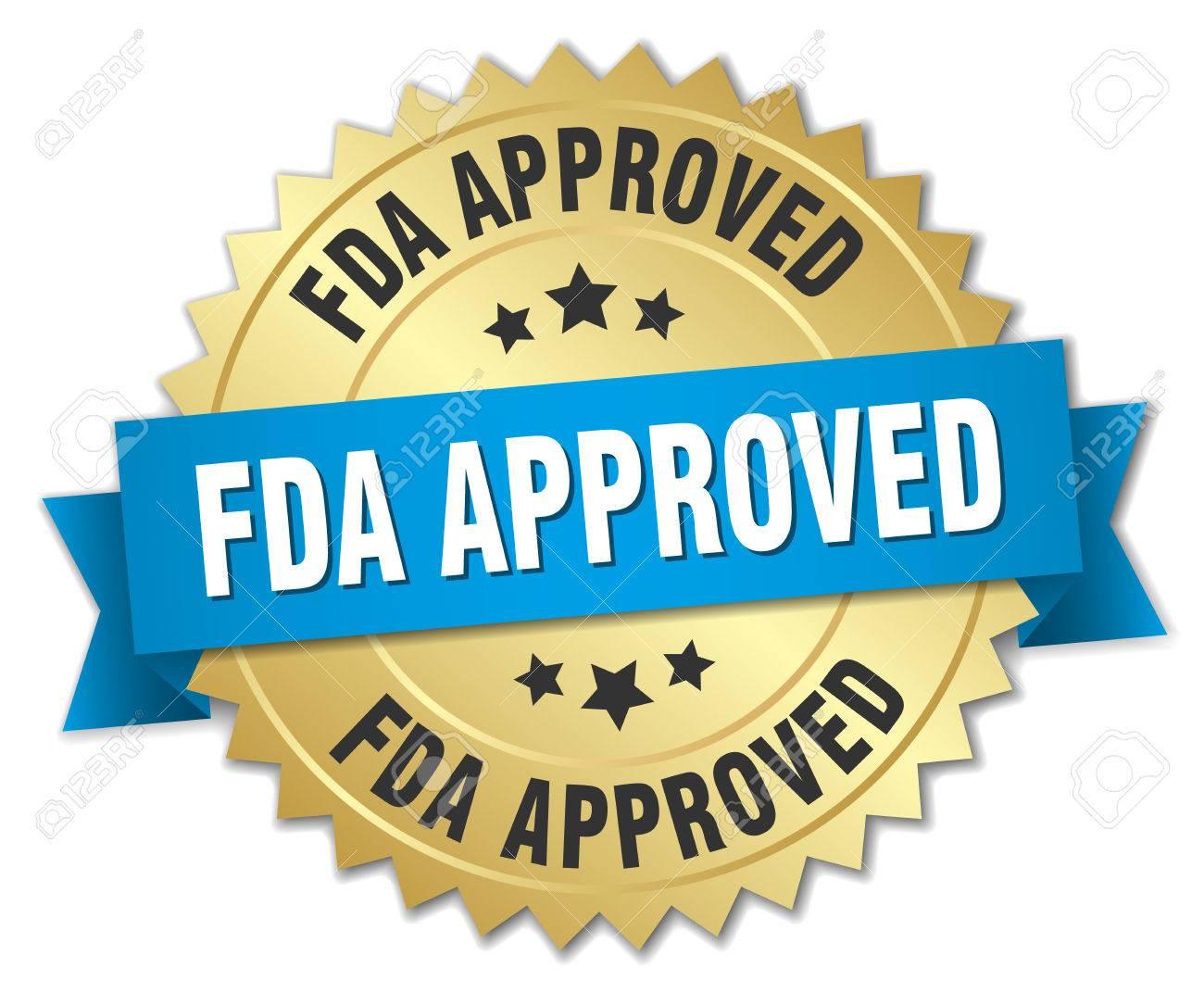 fda approved round isolated gold badge - 77698847