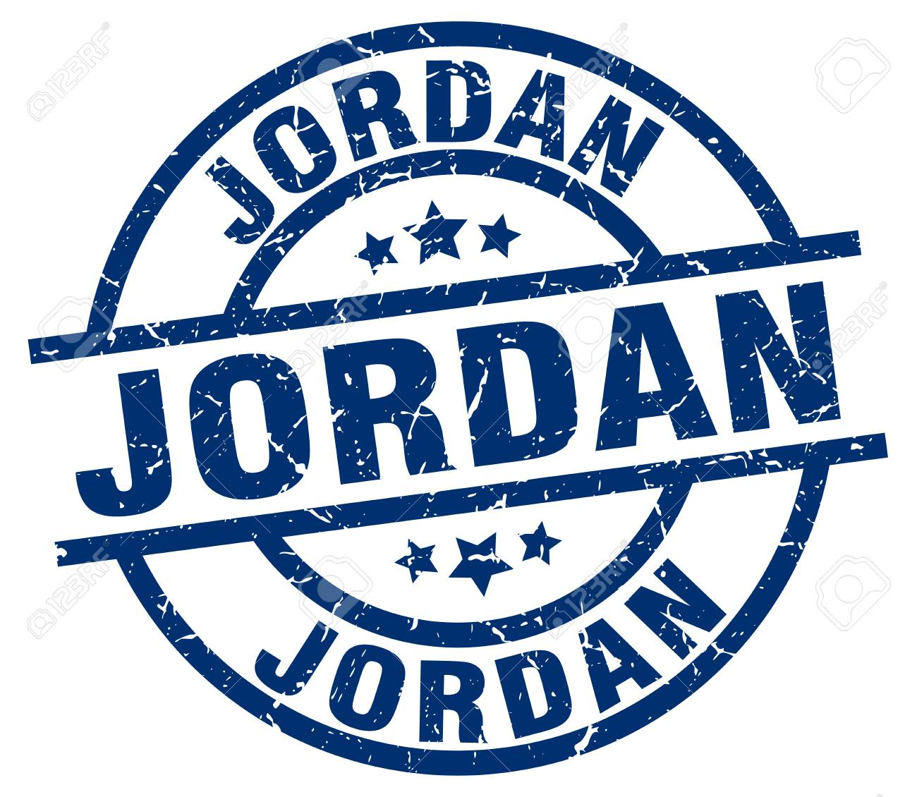 Jordan Blue Round Grunge Stamp Royalty Free Cliparts Vectors And