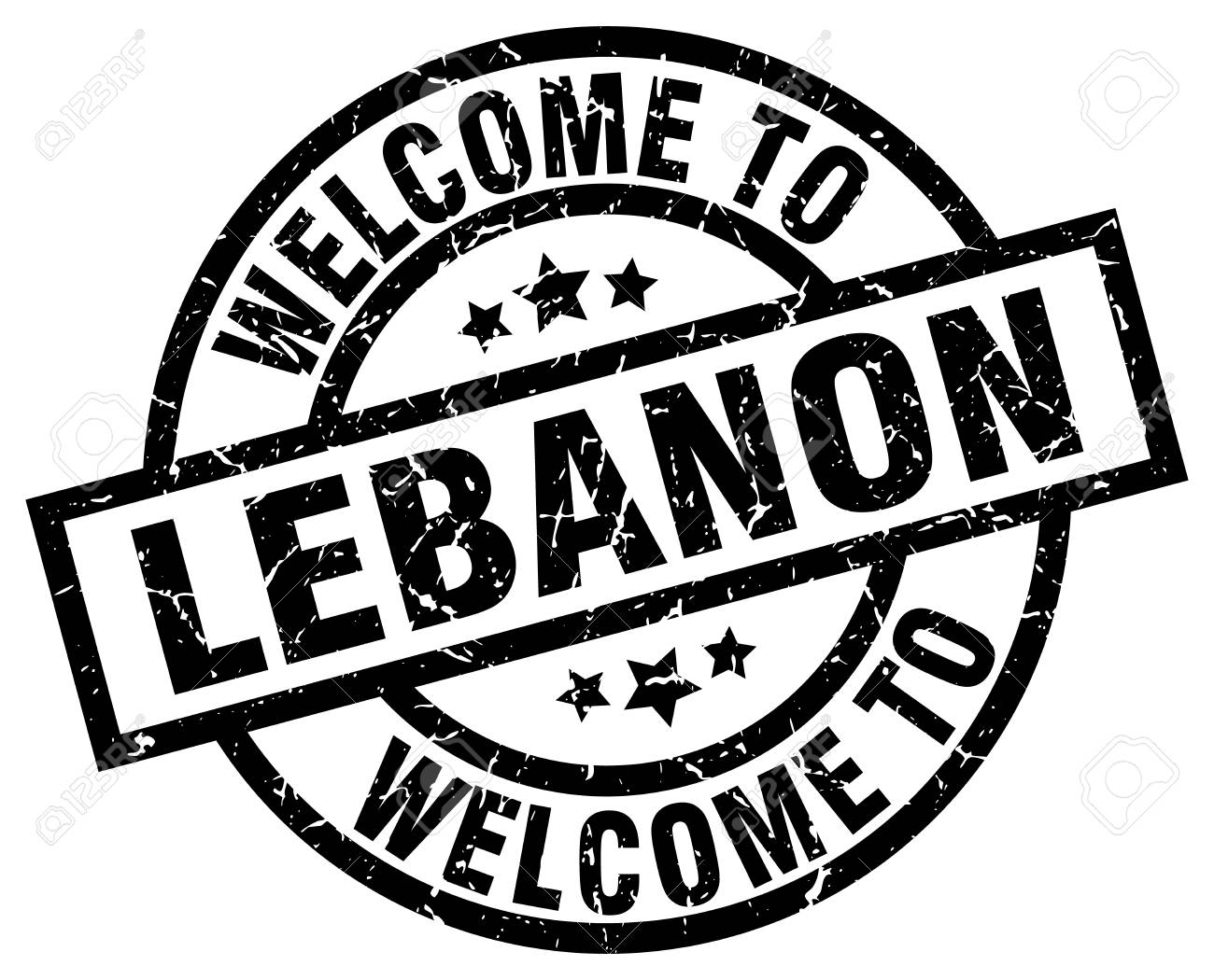 Welcome To Lebanon Black Stamp Royalty Free Cliparts Vectors And