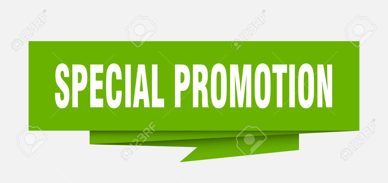 Special Promotion Sign Special Promotion Paper Origami Speech Bubble Special Promotion Tag Special
