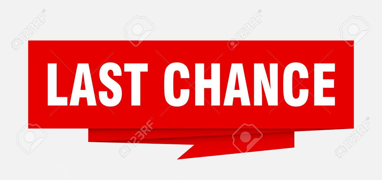 last chance sign. last chance paper origami speech bubble. last chance tag. last chance banner - 111789731
