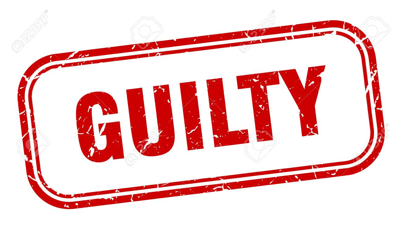 guilty stamp. guilty square grunge sign. guilty - 126047018