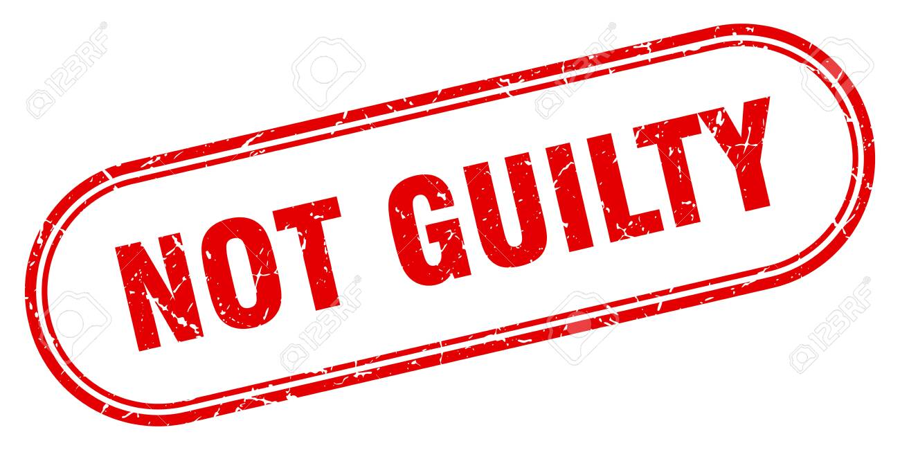 not guilty stamp. not guilty square grunge sign. not guilty - 126524453