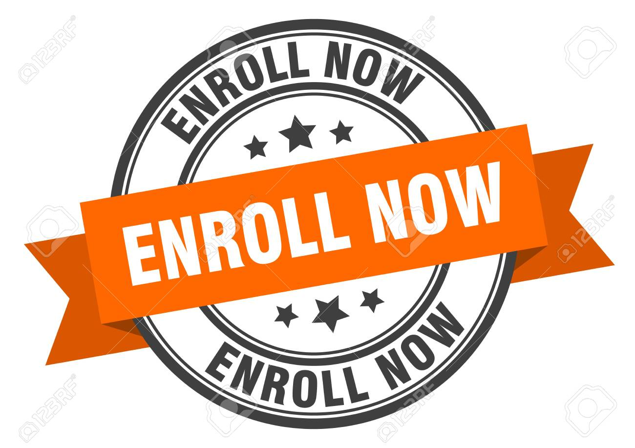 Enroll Now Label. Enroll Now Orange Band Sign. Enroll Now Royalty Free Cliparts, Vectors, And Stock Illustration. Image 130049607.