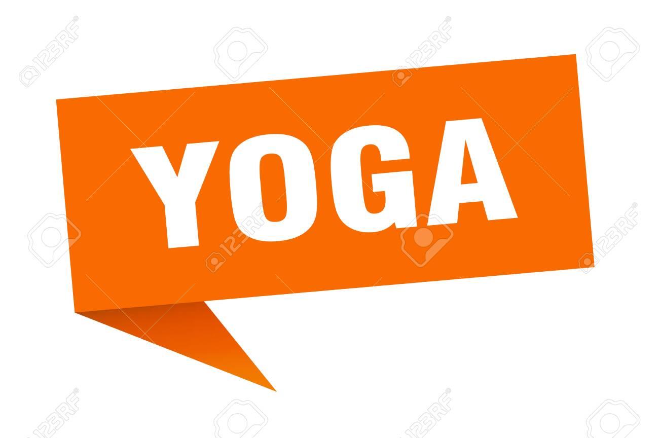 Yoga Speech Bubble Yoga Ribbon Sign Yoga Banner Royalty Free Cliparts Vectors And Stock Illustration Image 139677319