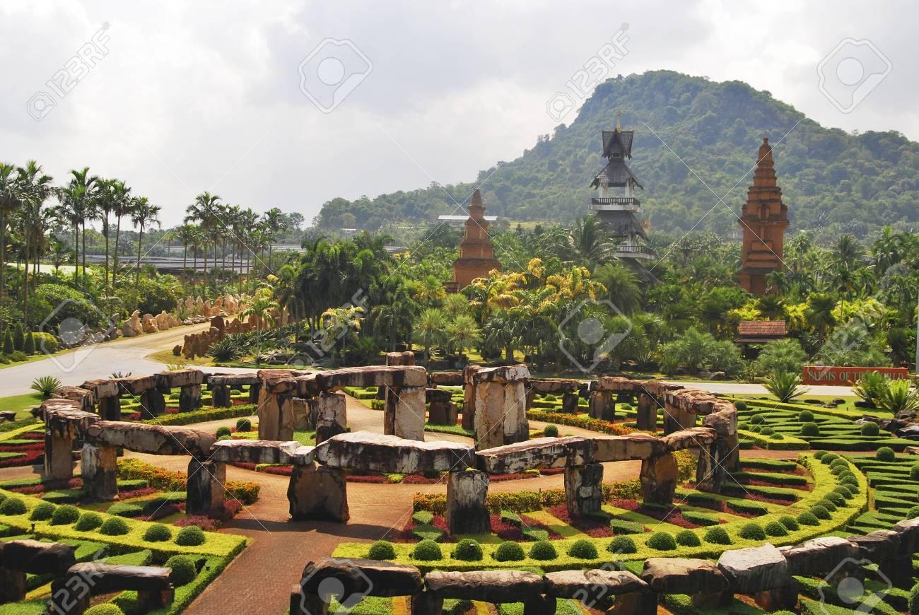 Tropical Botanical Garden Nong Nooch In Thailand Stock Photo ...