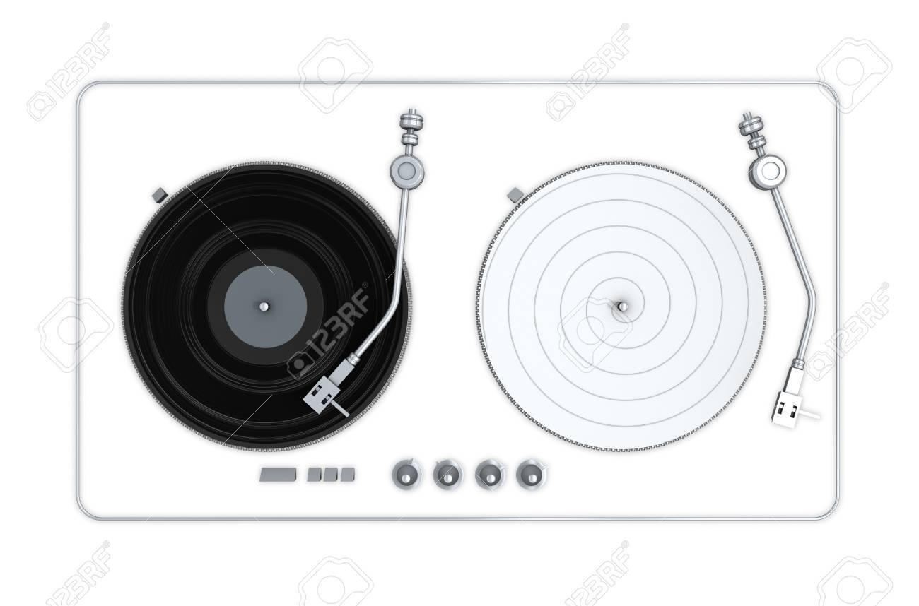 Vinyl player 3d model - 14131186