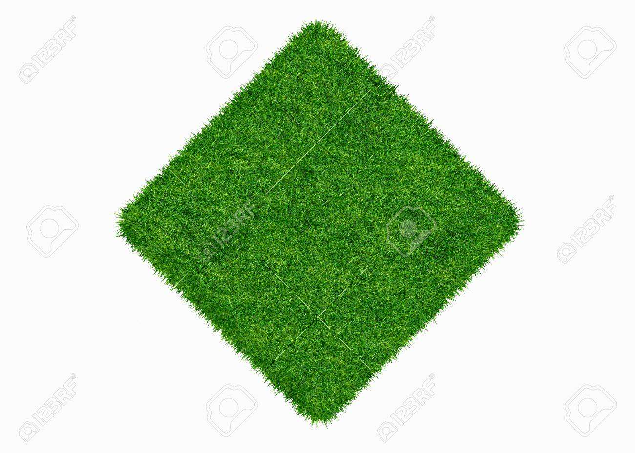 Empty green grass blank isolated 3d model - 18269712