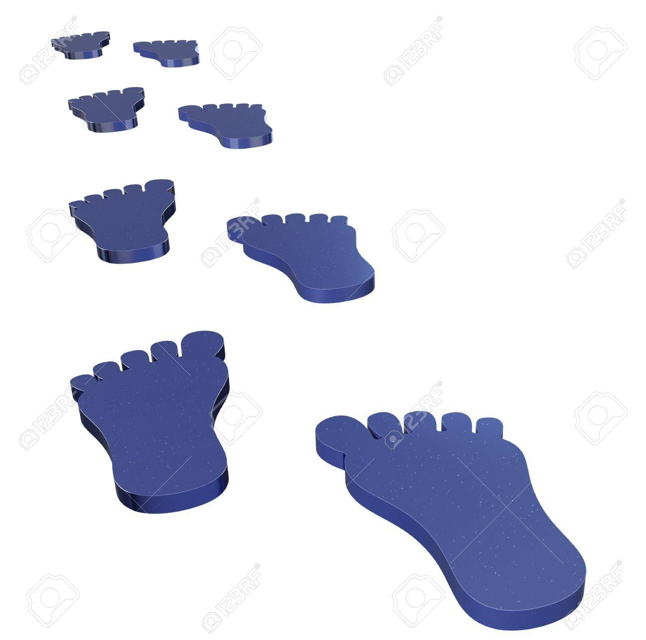 Toon footsteps isolated on white 3d model - 18269696