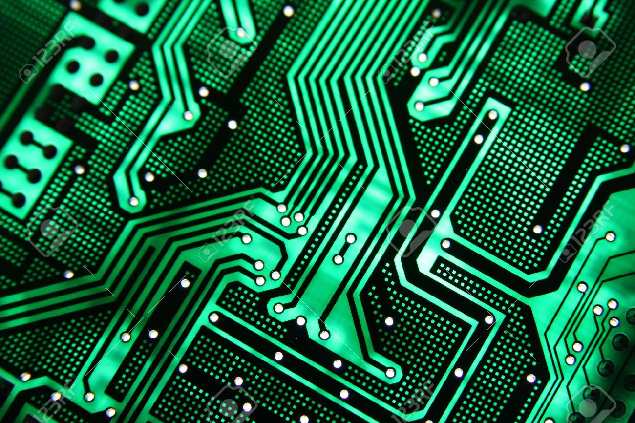 Green PCB On The Light Stock Photo, Picture And Royalty Free Image ...