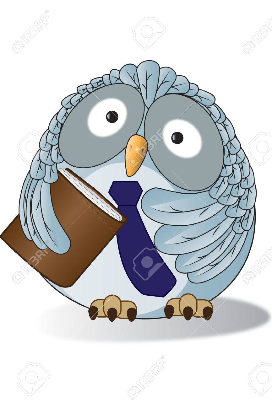 An owl in Teacher style Stock Vector - 13026068
