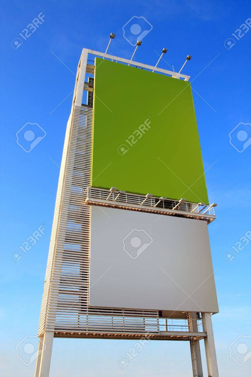 Advertising board with blue sky Stock Photo - 17120742
