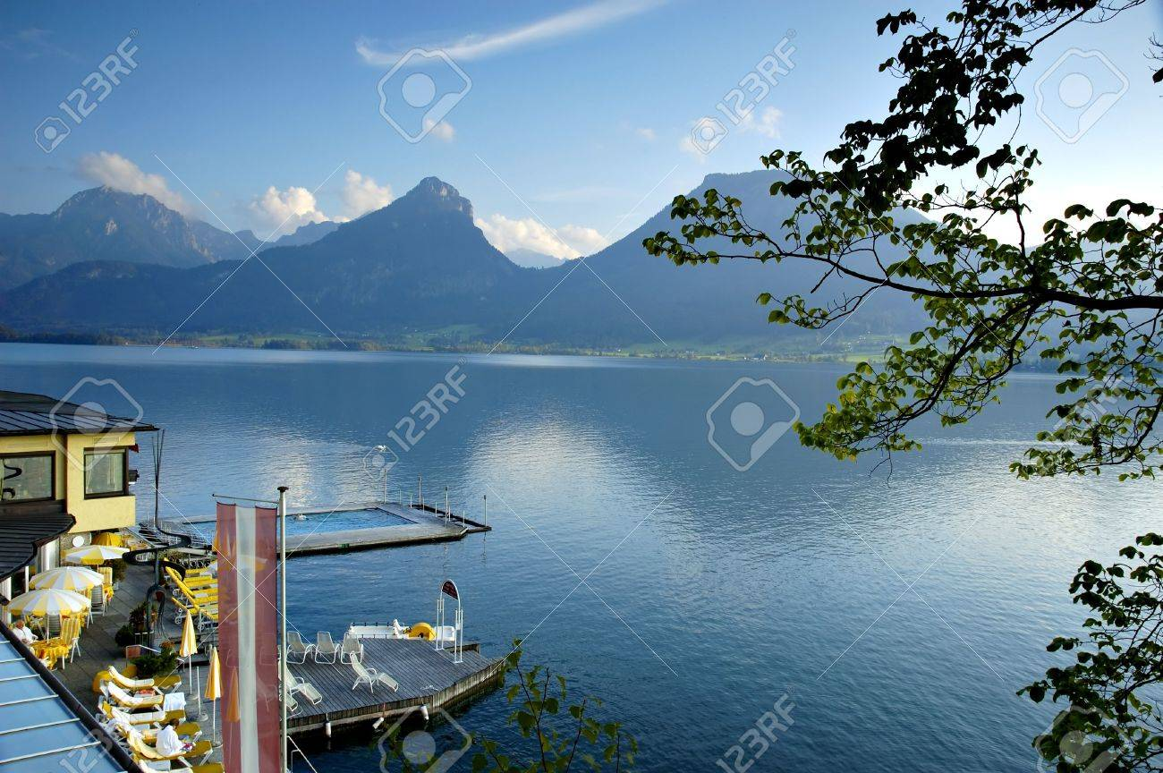 Mountain lake st wolfgang in salzkammergut austrian alps stock mountain lake st wolfgang in salzkammergut austrian alps stock photo 3227708 sciox Images