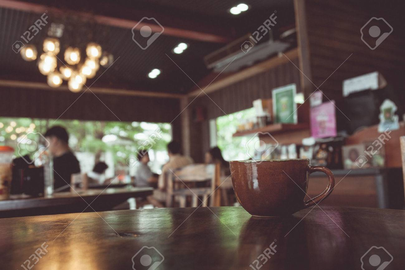 Coffee shop images stock pictures royalty free coffee shop vintage tone of cup of coffee on table in coffee shop blur background with bokeh image geotapseo Gallery