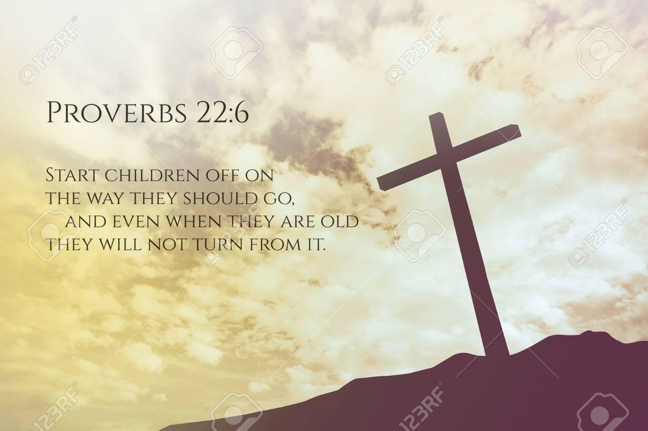 sprüche aus der bibel 22 Sprüche: 6 Vintage Bibel Vers Hintergrund Auf Ein Kreuz Auf  sprüche aus der bibel