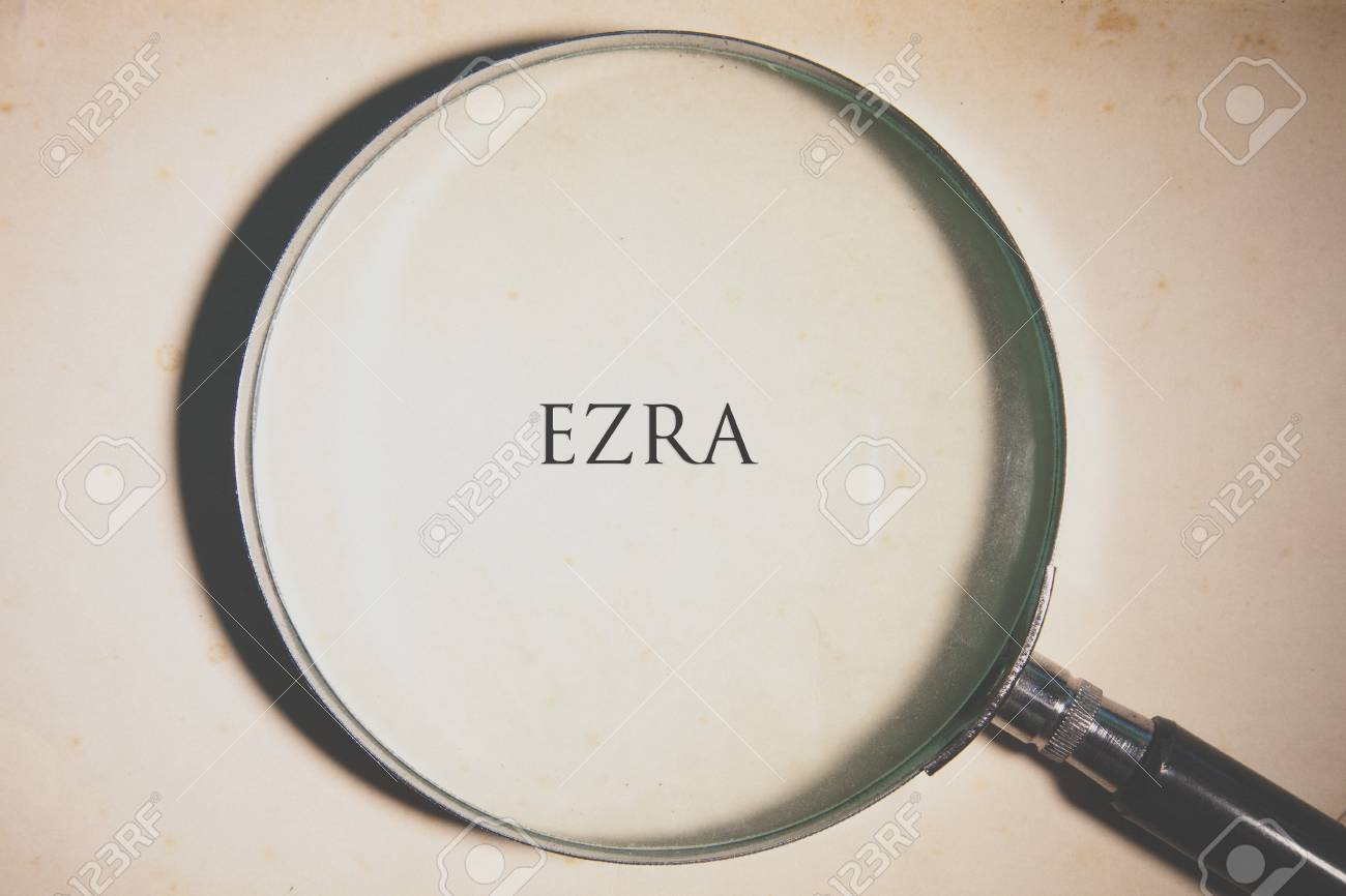 Vintage tone of the Bible book of Ezra Stock Photo - 73542387