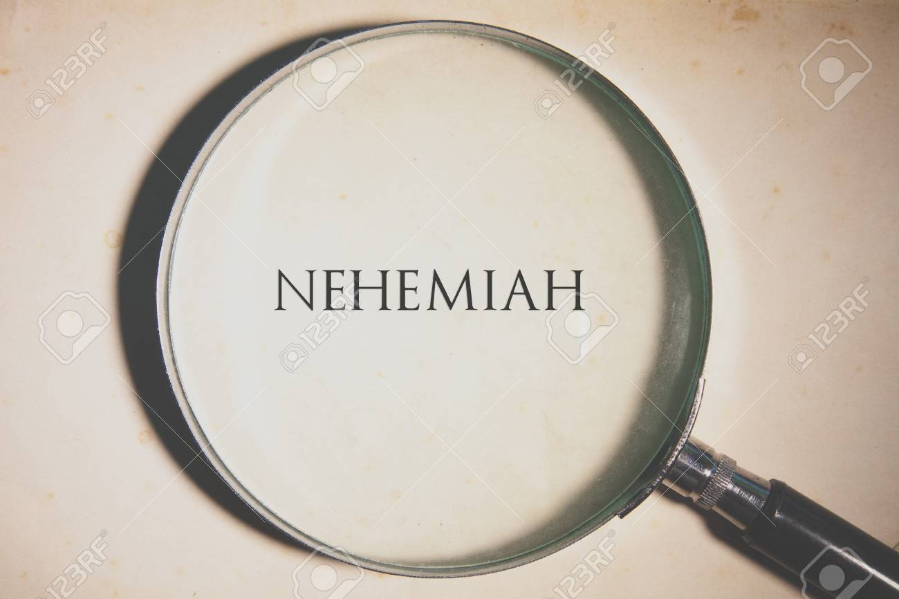 Vintage tone of the Bible book of Nehemiah Stock Photo - 73542388