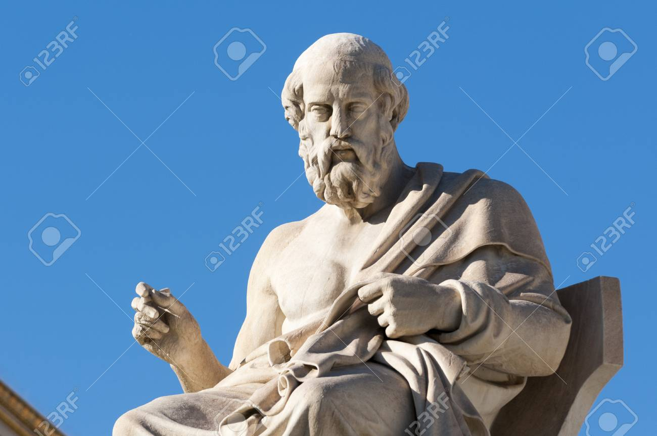 classic statues Plato sitting - 120882600