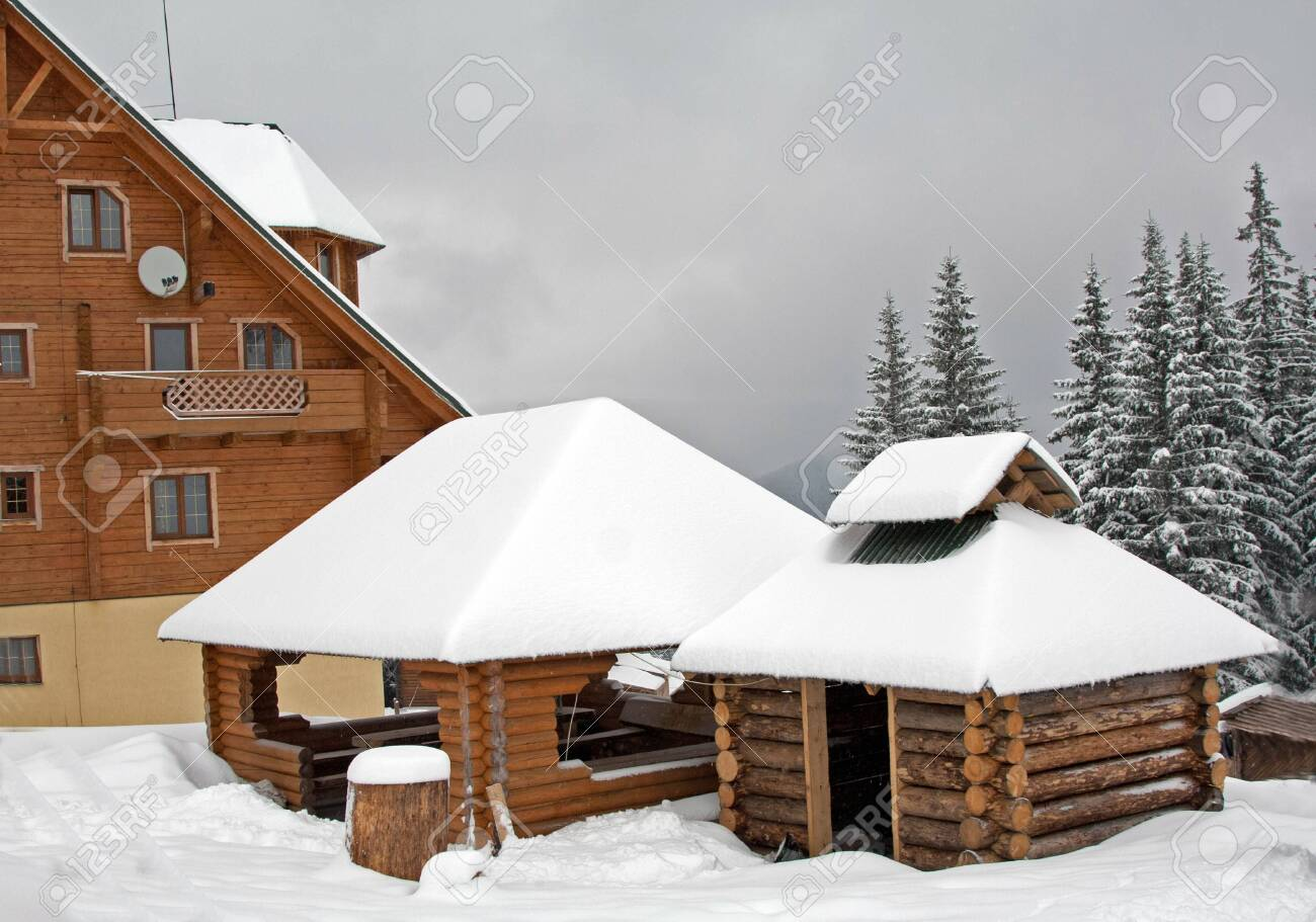 Houses covered with snow Stock Photo - 7906513