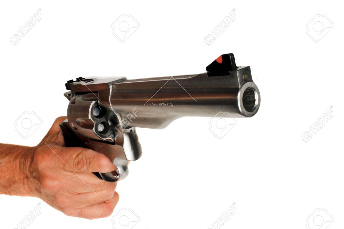 分離した 44 マグナム拳銃拳銃 の写真素材・画像素材 Image 4802656.