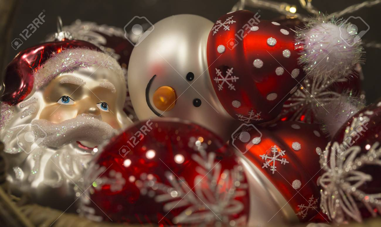 Beautiful Red And White Christmas Tree Decorations Shaped Like Stock Photo Picture And Royalty Free Image Image 67499855