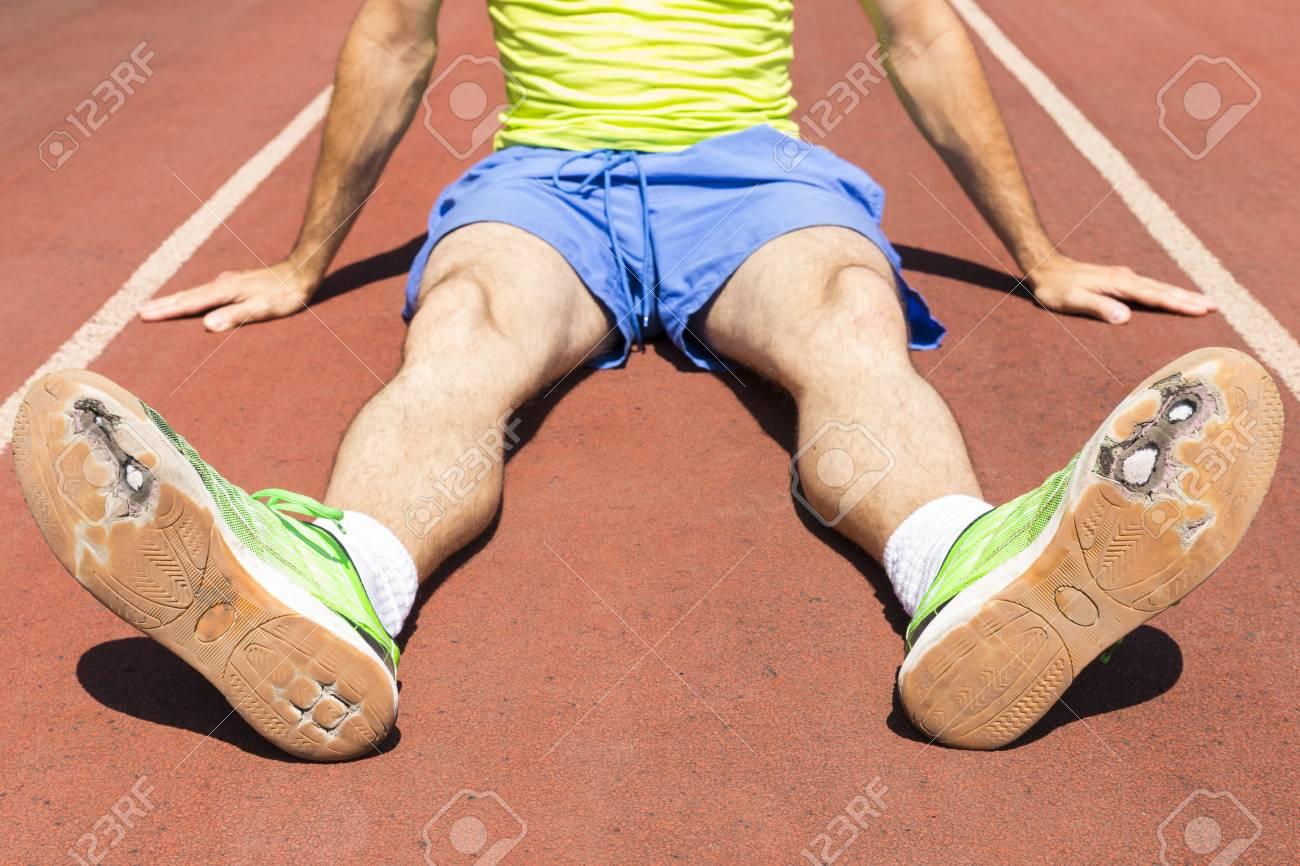 Running Track Wearing Broken Green
