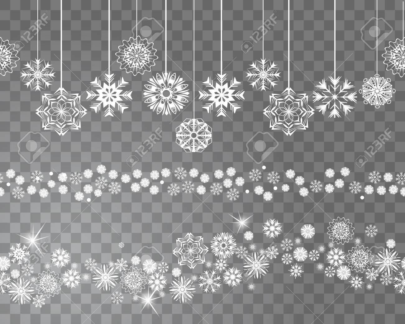 Snowflake, beautiful snowflake border transparent background PNG clipart |  HiClipart