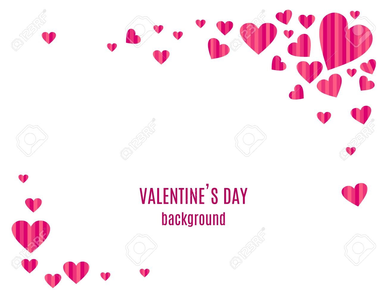 Abstract Love Background For Valentines Day Design Stripped