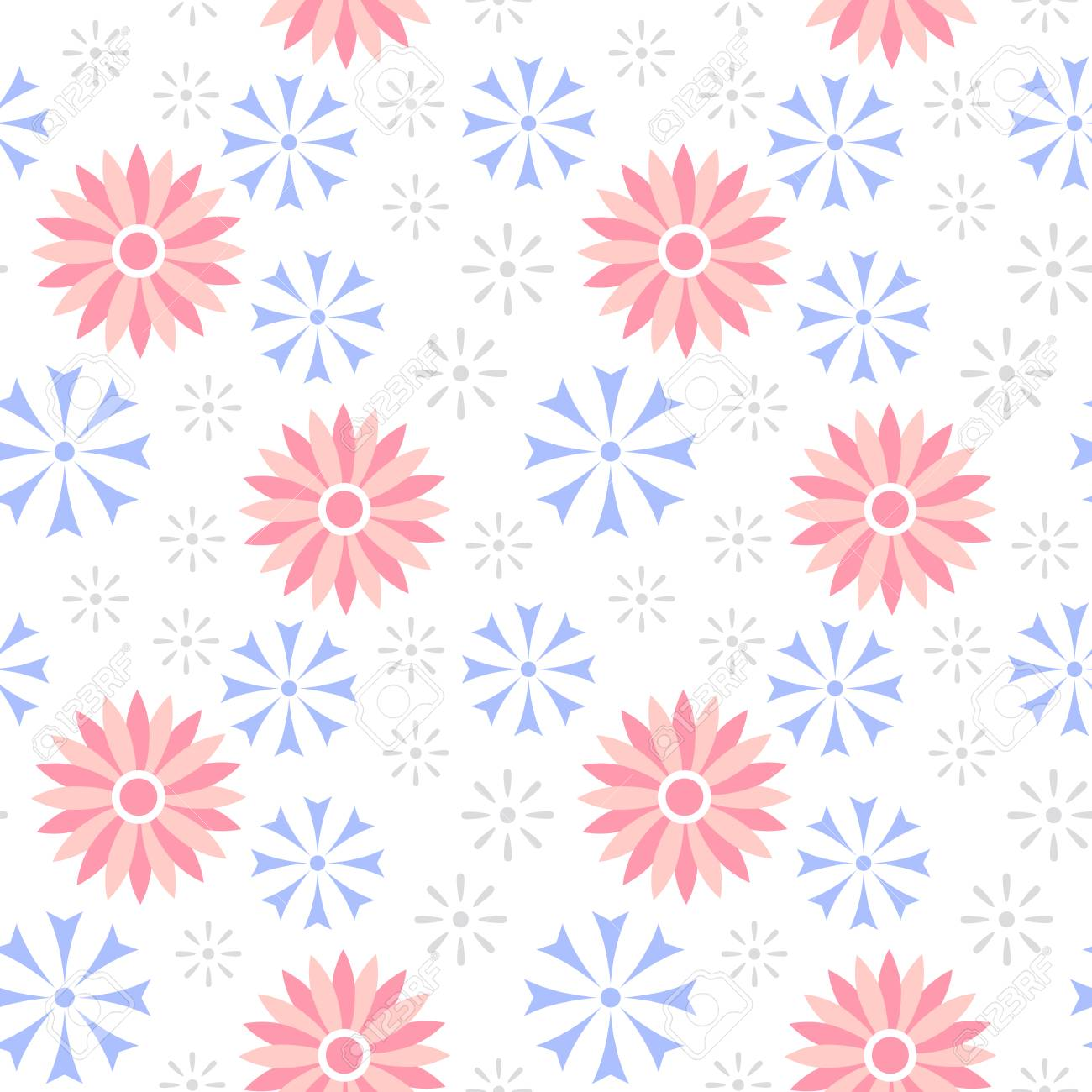 Spring Flower Seamless Pattern Cute Floral Backgrounds For Your