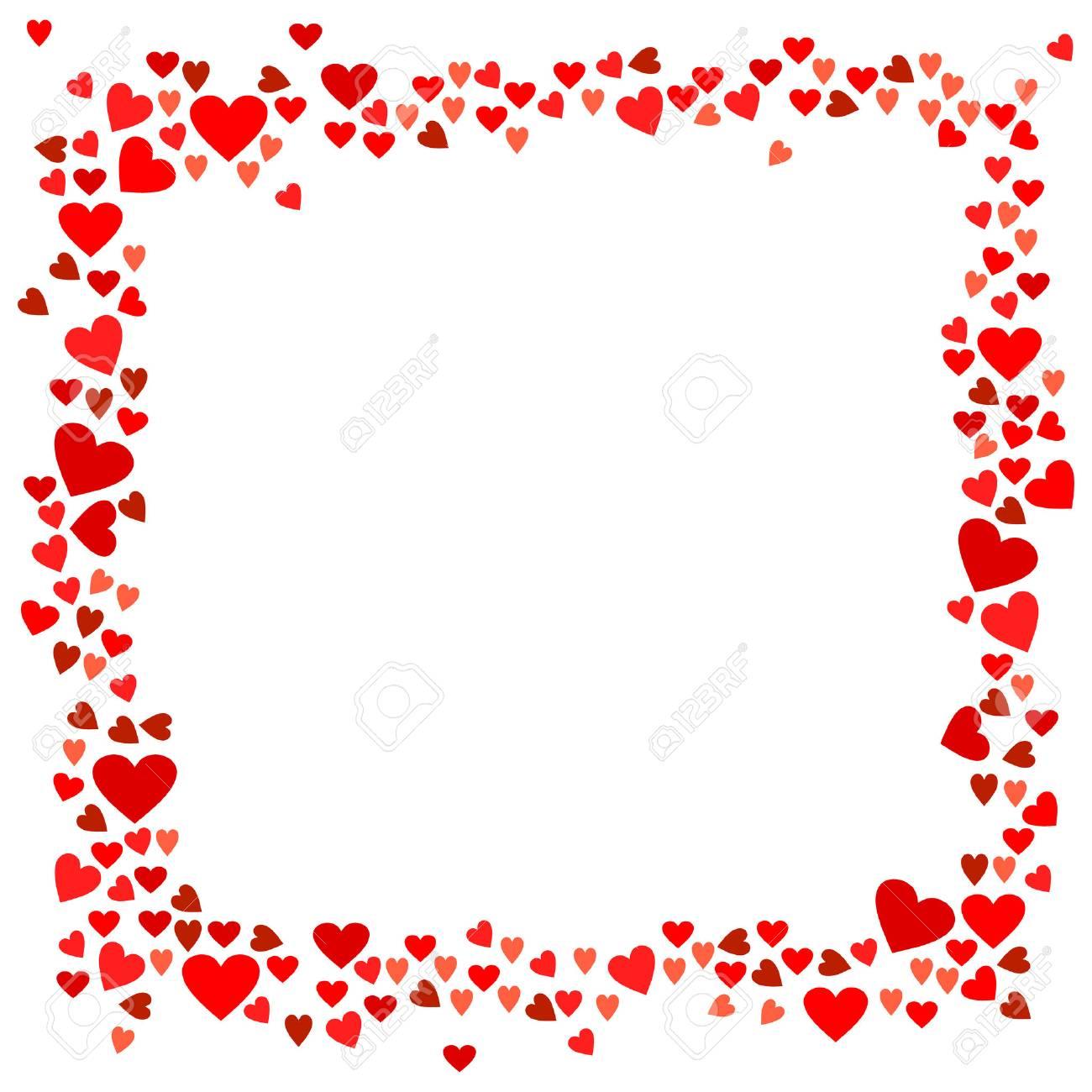Abstrakt Liebe Für Ihre Valentinstag-Grußkartenentwurf. Rote Herz ...
