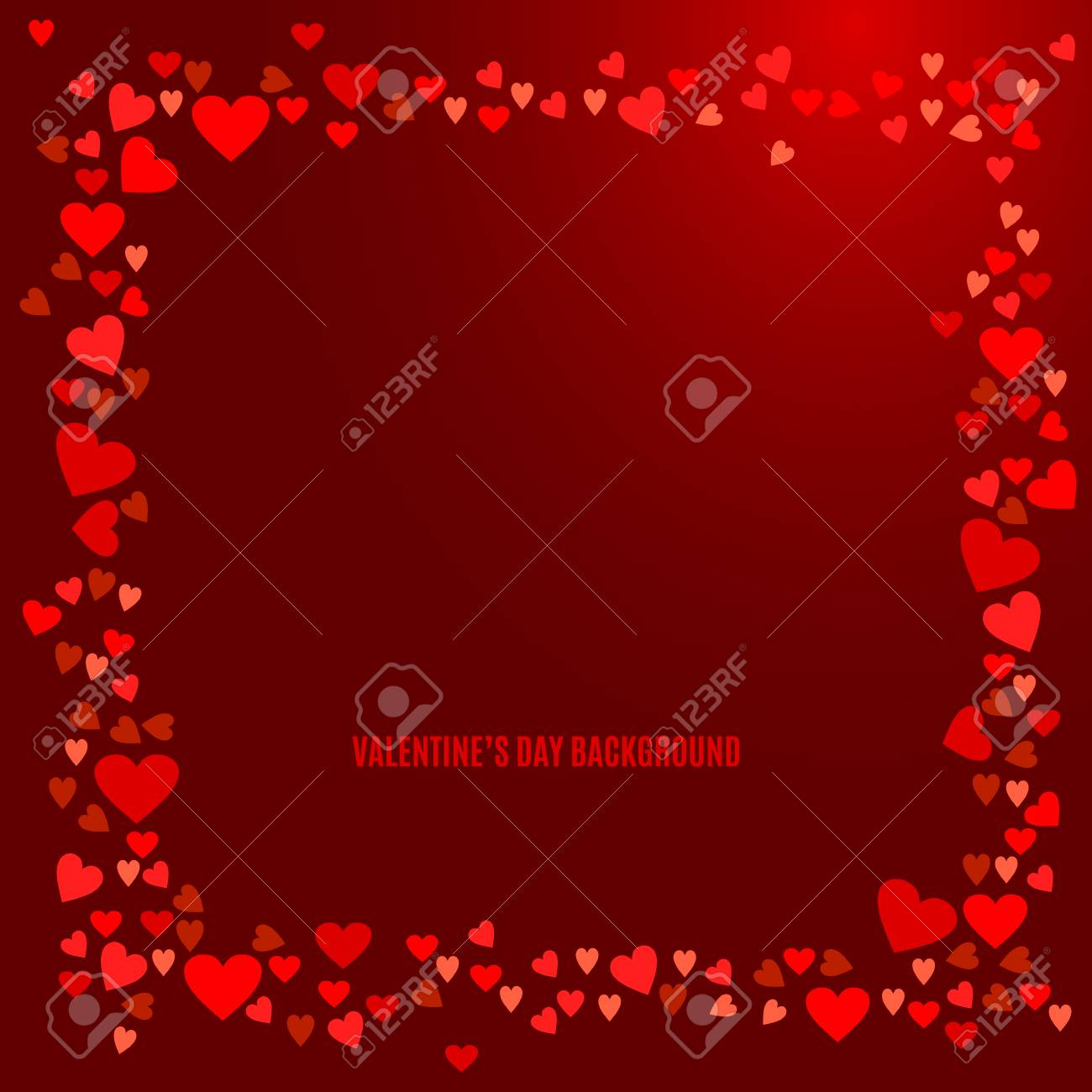 Abstract Love Background For Your Valentines Day Greeting Card