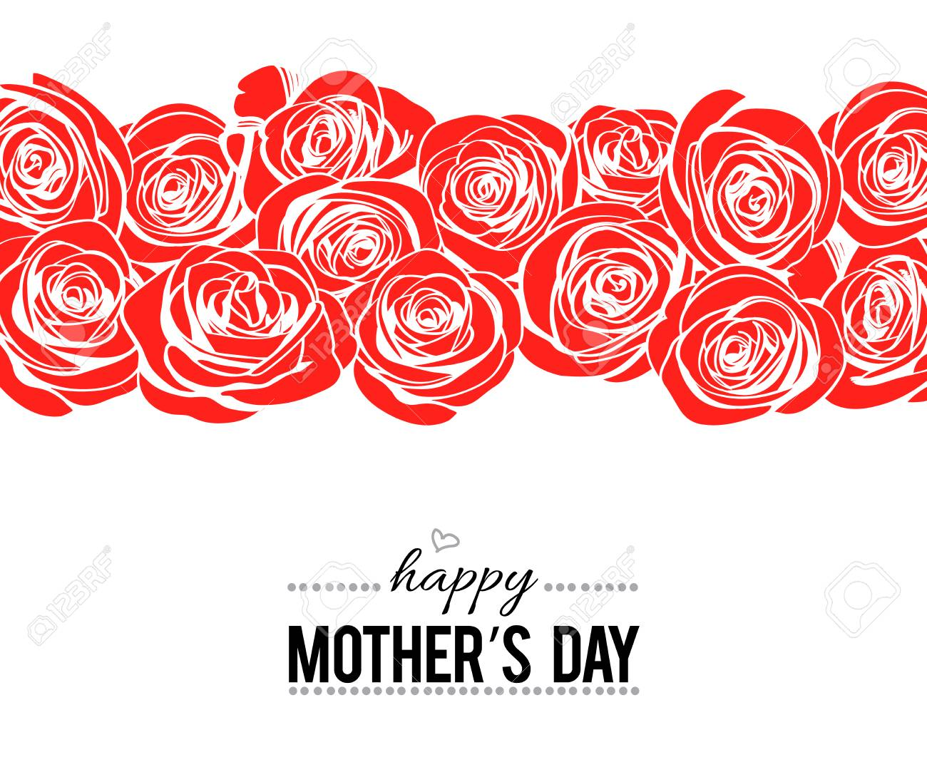 happy mother s day lettering template on white background with