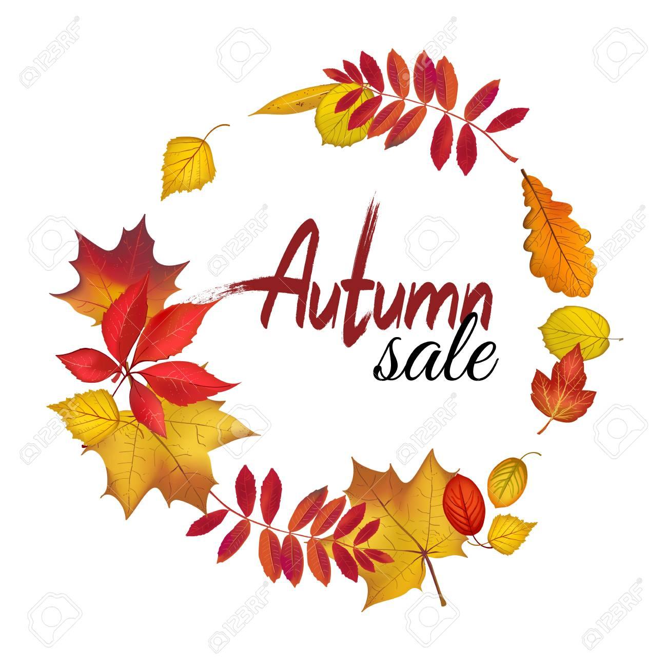 fall leaves wreath for autumn sale design autumn lettering