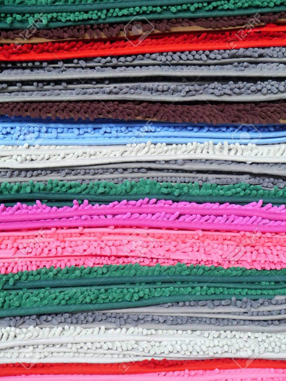 Multi color layer of carpet. Stock Photo - 21810778